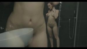 Sweet brunette pornstar Britney Alli under the shower
