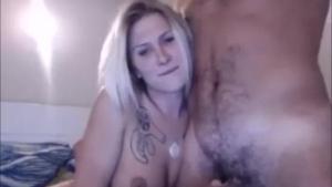 Blonde beauty having solo sex