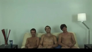 Exciting temptress and four horny fetish guys