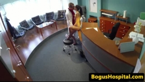 Doctor seduces patient inside the her office